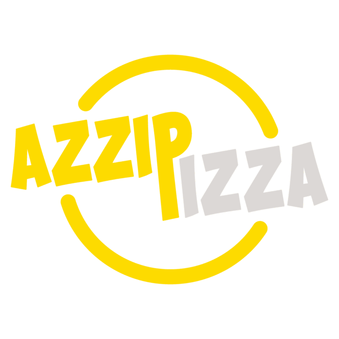 Azzip Pizza Logo Official Two Colors