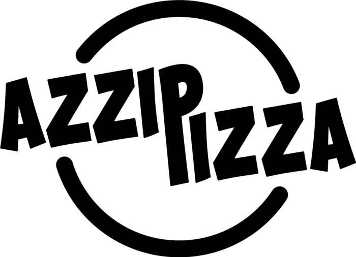 Azzip Pizza Logo Black