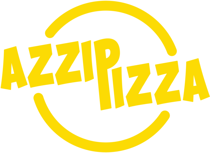Azzip Pizza Logo Yellow